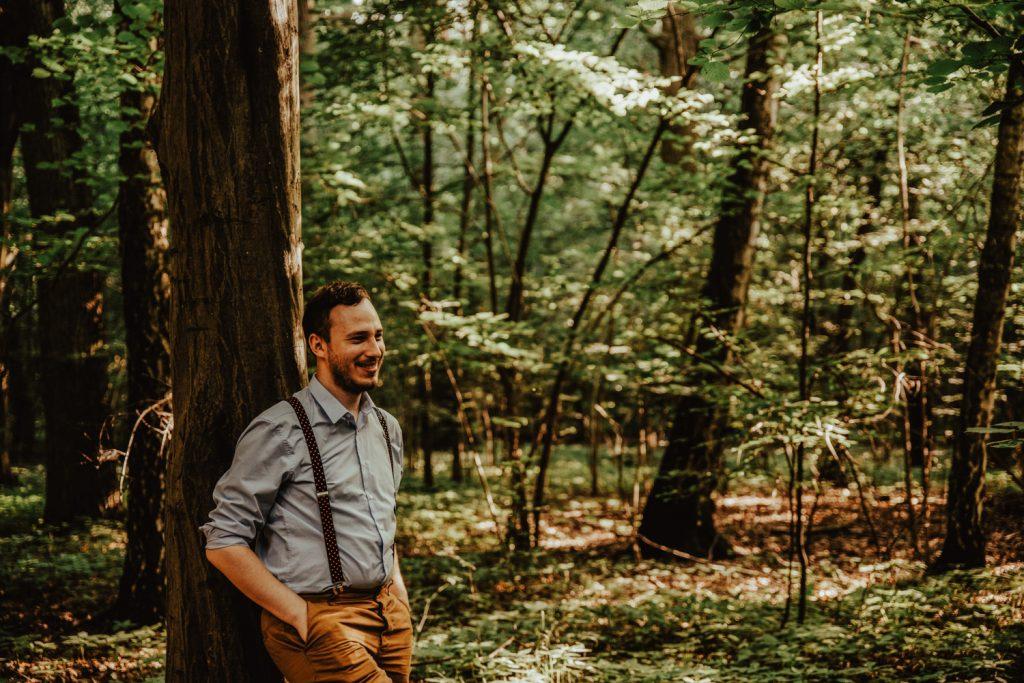Zakochać się w lesie   Sesja narzeczeńska w lesie   Las w Warszawie 16