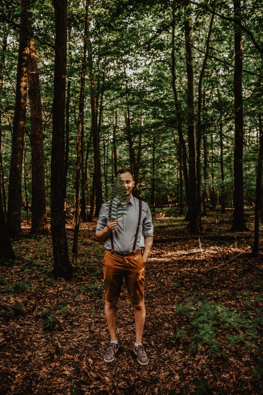 Zakochać się w lesie   Sesja narzeczeńska w lesie   Las w Warszawie 23