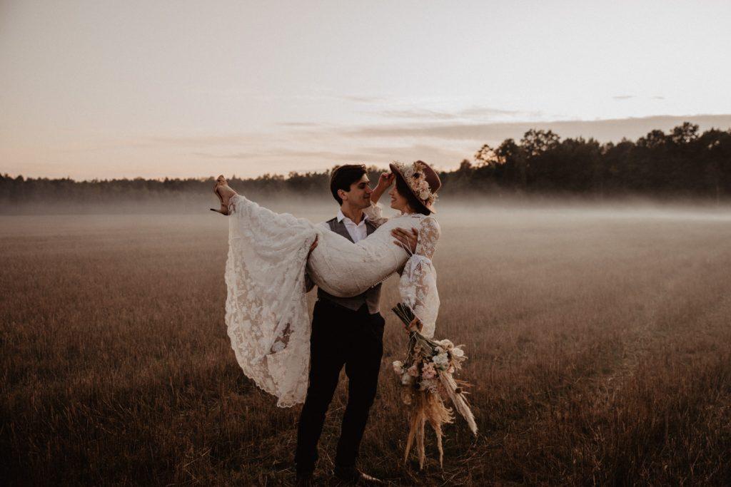 Ślub Boho | Sesja ślubna | Dom w Przepitkach 65